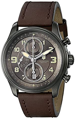 Swiss Army Victorinox Infantry  241520 44mm Stainless Steel Case Brown Calfskin Anti-Reflective Sapphire Men's Watch