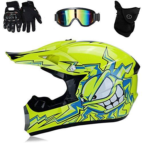 TKUI Motos Motocross Cascos Guantes Gafas estándar