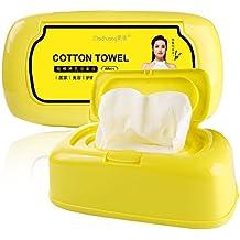 Toalla de cara desechable sin pelusas, almohadillas de algodón para limpieza facial de ojos,