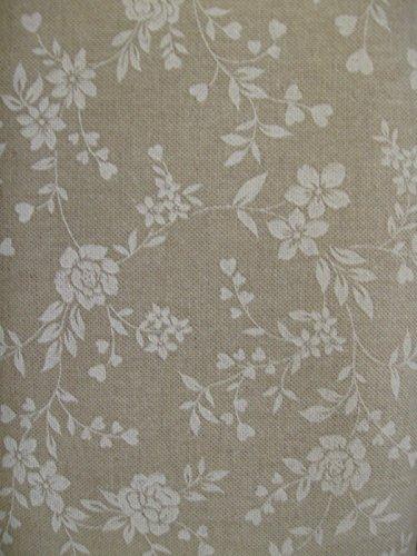 STOFFA TESSUTO per TOVAGLIA-CUSCINO-copritutto PROVENZALE fiore bianco 5 metri