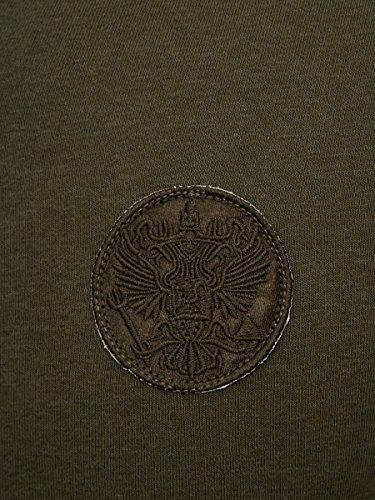 L.A.B 1928 Herren Sweatjacke Joggingjacke Jacke Hoodie Pullover Pulli Sweatshirt Khaki