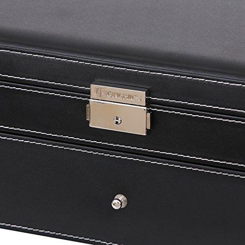 Songmics Uhrenbox Schmuckkästchen Für 6 Uhren + schublade JWB11B - 3