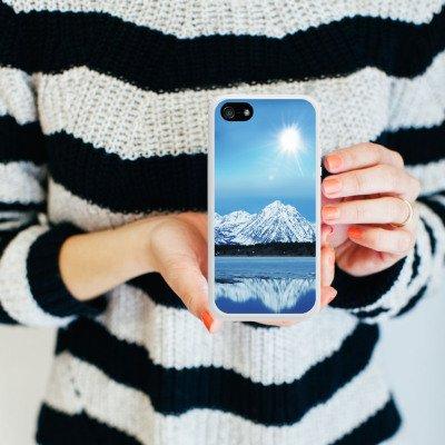 Apple iPhone 4 Housse Étui Silicone Coque Protection Montagne Neige Sommet Housse en silicone blanc