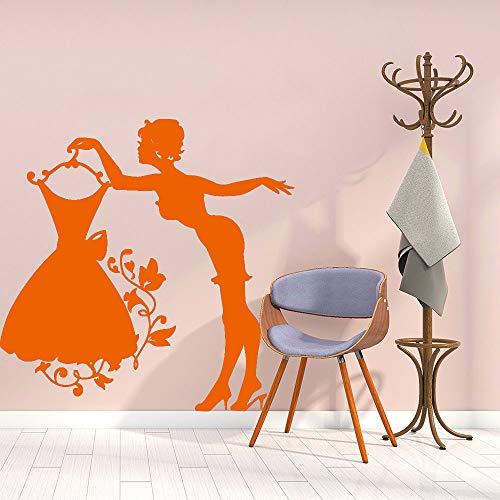 zhuziji Cartoon Schöne Wohnkultur Vinyl Wandaufkleber Wohnzimmer Wandkunst Aufkleber Schlafzimmer Kreative Aufkleber Wandbild Naklejki NA 888-5 L 43 cm X 43 cm