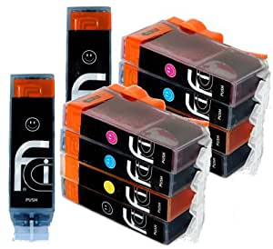 10 Canon Pixma PGI-550 XL CLI-551 XL FCI Printer Ink Cartridges for ip7250, iX6850, MG5450, MG5550, MG5650, MG6450, MG6650, MX725, MX925 printer inks