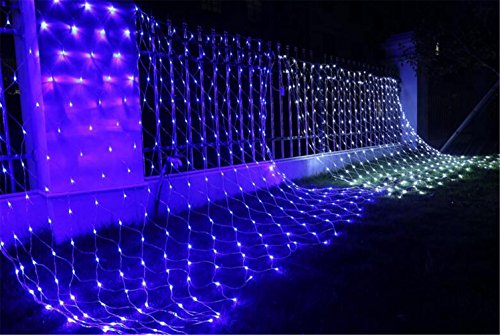 W-ONLY YOU-J Christmas Dekoration net Lights 2mx3m 200 LEDs 8 Modi für Outdoor Christmas Tree Wedding Parties Dekoration , blue