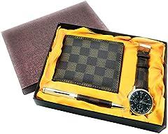 Idea Regalo - Cofanetto regalo uomo orologio penna portafoglio set laurea