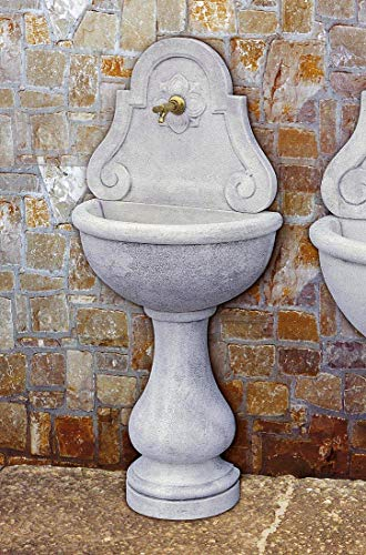 pompidu-living Wandbrunnen LIONE schmal H 146 Farbe Terracotta