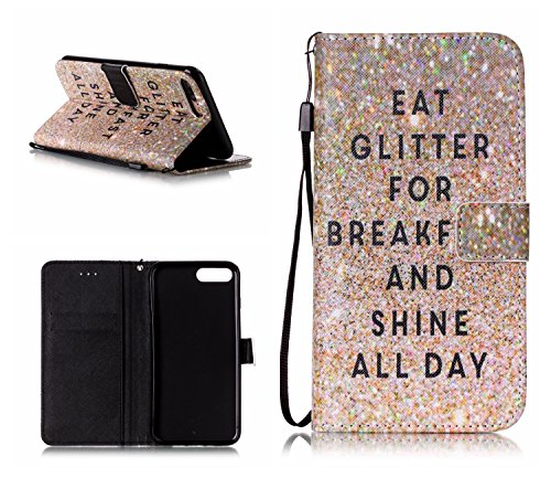 Cover iPhone 7 Plus,iPhone 8 Plus Coque,Valenth PU Leather Wallet Coque avec fonction Stand et Slots pour iPhone 8 Plus / iPhone 7 Plus 1#