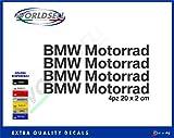 Aufkleber Aufkleber BMW MOTORRAD S1000RR 1200 1150 GS ADVENTURE SERIE RT M F R K C (schwarz)