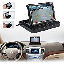 Fold in-Dash Rear View Reproductor de video con monitor LCD reversible para automóviles con pantalla HD de 5 pulgadas para cámara de respaldo Asistencia para vehículos
