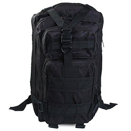 Sport Outdoor-Zaino tattico militare Fansheng 3P grande di qualità superiore di sopravvivenza Oxford-Zaino per Trekking, viaggio, campeggio, escursionismo, 30 litri, Heavy Duty, nero