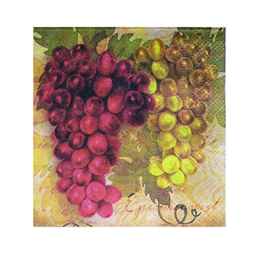 Vinotemp VNTEP-VINNAP01 Epicureanist Vineyard Partyservietten, 25 x