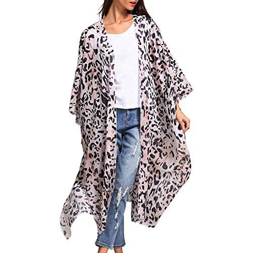 . Nette lose Hemd-Frauen arbeiten Leopard-Druck-Mantel-Oberseiten-Klage-Bikini-Badebekleidungs-Strand-Badeanzug-Kittel um ()