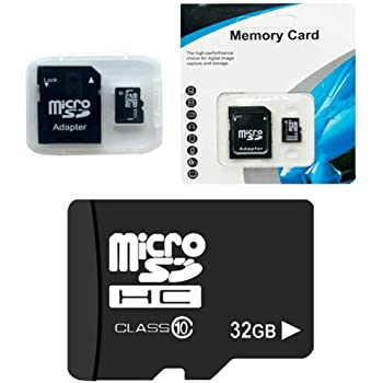 GUIGSI Scheda di Memoria, Micro SD, 32 GB Classe 10, UHS-I, ad alta velocità, Velocità di Scrittura 15 MB/s, con Adattatore SD Per Telefoni, Tablet e PC, TF card 32GB