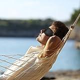 TROP Komfort Schlafmaske aus samtweichem, seidigen Stoff für einen ungestörten und erholsamen Schlaf – ideal für Reisen, in schwarz, mit verstellbarem Gummiband und 2 Jahren Geld-zurück-Garantie - 6