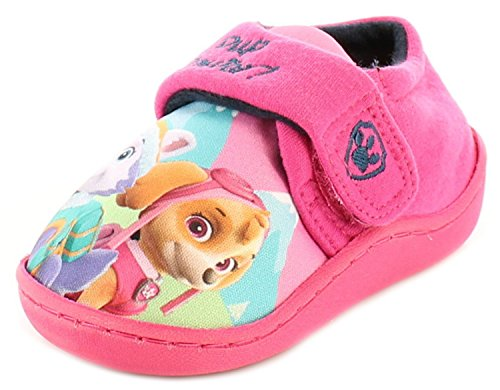 New Girls Paw Patrol Character Full Slippers With Touch Fastening - Pink - UK SIZE 5