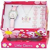 Ravel  Little Gems  Butterfly Watch and Silver Plated Jewellery Set.