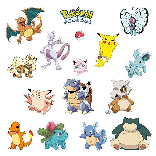 Oulique 3D Aufkleber Pokemons