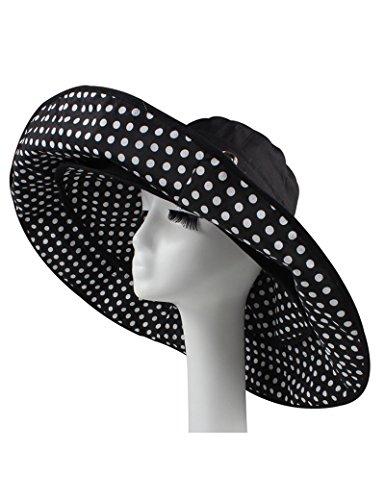 Chapeau de soleil d'été Femme d'été visière Les grands avant-toits UV Chapeau de soleil chapeau de soleil pliable de plein air chapeau de plage Pour les voyages de plage sortants ( Couleur : 1 ) 6