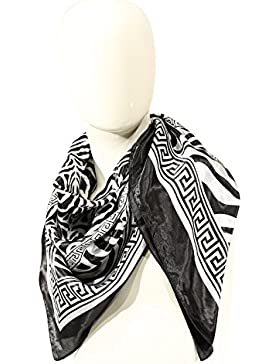 Foulard Solo Soprani in tessuto leggero, di forma quadrato di colore Nero/bianco. K35000F002NE/BIA
