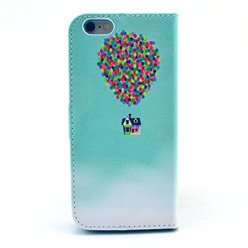 """MOONCASE iPhone 6 Case Motif Conception Coque en Cuir Portefeuille Housse de Protection Étui à rabat Case pour iPhone 6 (4.7"""") P47"""