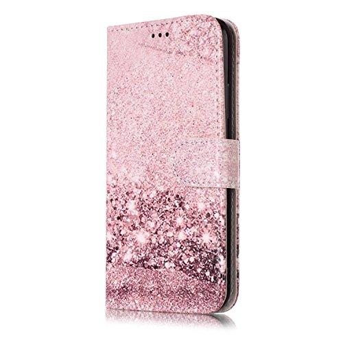 inShang Custodia per iPhone X 5.8 inch con design integrato Portafoglio, iPhoneX 5.8inch case cover con funzione di supporto. Sparkle Purple