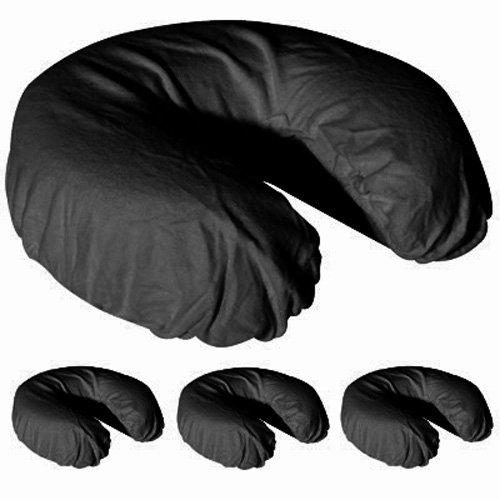 Royal Massage Set der 4gebürstetes Flanell Spannbettlaken Gesichtsauflage, schwarz, null