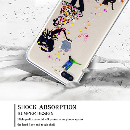 Coque iPhone 7 Plus, Coque Silicone pour iPhone 7 Plus, SpiritSun Etui Coque TPU Slim Bumper Souple Silicone Etui Coque de Protection Clair Transparente Coque Housse Flexible Doux Housse Anti Choc Pro Fille