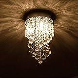 Unimall Moderne Kronleuchter Kristall Deckenleuchte hängend geeignet für Kinderzimmer Esszimmer oder Flur