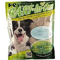 petman barf All-in-One Junior, 6x 750g de bolsa, congelador Forro, saludable, naturales Nutrición para perros, perros Forro, barf, b.a.r.f.