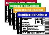 Konzertkarte Konzert Eintritskarte als Einladungskarten Einladung zum Geburtstag - 50 Stück