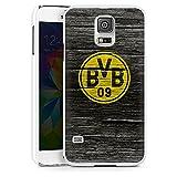 DeinDesign Samsung Galaxy S5 Hülle Case Handyhülle Borussia Dortmund BVB Holzoptik