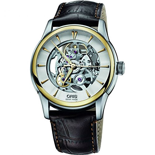 Mens Oris Artelier Skeleton Automatic Watch 0173476704351-0752170FC