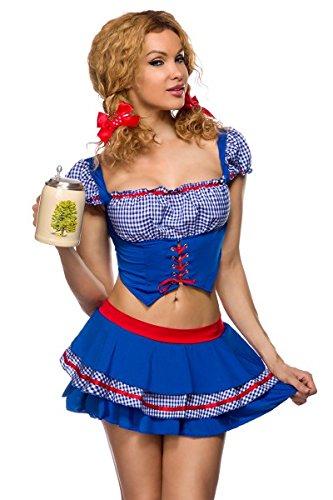 Preisvergleich Produktbild Atixo Country Girl-Kostüm - blau/rot/weiß, Größe Atixo:S