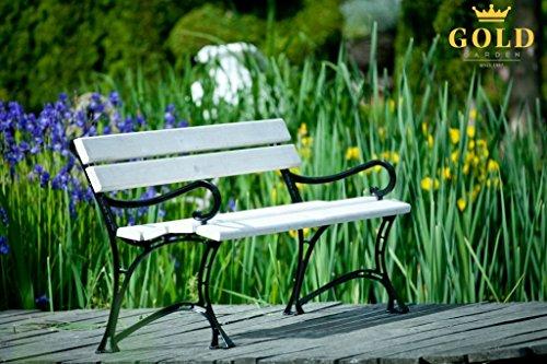 GOLD GARDEN G02022 Gartenbank Toskana aus weissem Fichtenholz 150 cm für 3 Personen - 7