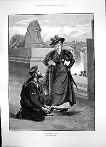 La Copie Antique du Marin de Davidson Knowles de Noeud de Marins Attache la Jeune Chaussure 1893 de Ladys