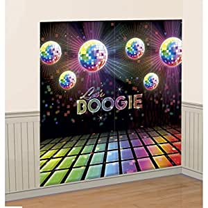 D co murale ann es 70 poster disco party 1 65 x 1 65 m for Deco murale annee 70