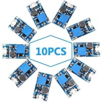 WOWOONE dc to dc Step up Converter DC Voltage Regulator Voltage Converter Step Up dc Boost Converter USB Power Module Supply Module 2V-24V to 5V-28V 2A MT3608 Mico USB (Pack of 10)