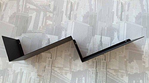 Ve.ca.-italy mensola design per libri zig zag (nero)