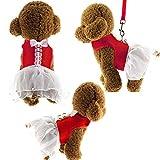 """Lalawow Hunde Rock Für Kleine Hunde Sommer Niedlich Prinzessin Haustiere Kleider (M (5.31 x 11.81-12.99 x 16.54-18.5""""), Rot)"""