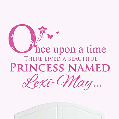 UNA HERMOSA PRINCESA NOMBRE LEXI-MAY GRANDE ONCE UPON A TIME ADHESIVO DECORATIVO PARA PARED ADHESIVO PARA CAMA HABITACION ARTE CHICA/BEBE