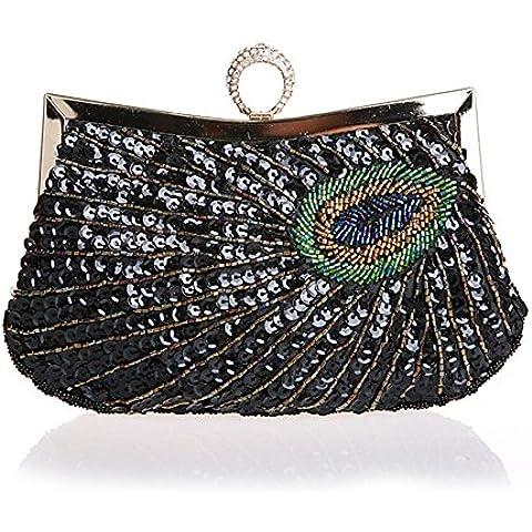 Ms. frizione/modello del pavone/Diamante sacchetto dell'anello mano/borsa da sera con paillettes/pacchetto banchetto/borse da sposa
