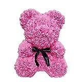 Ohwens 40 cm de Mousse Rose de Coeur d'amour de Fleur de Simulation d'ours de Rose pour la Noce,Fleurs artificielles