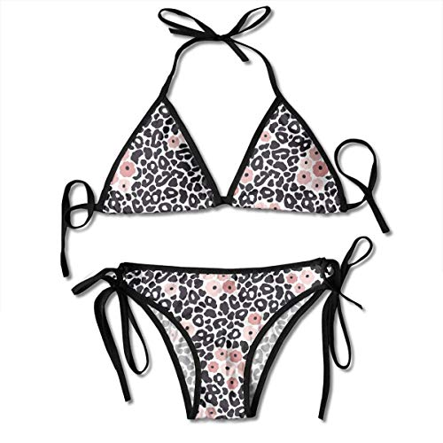 Triángulo Sexy bañándose Dos Piezas Women's Tie