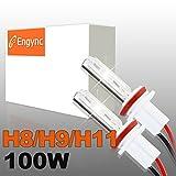 Engync 2x H7 Lampes Ampoules Xénon HID de Remplacement 100W 12V Couleur 10000K pour Voiture