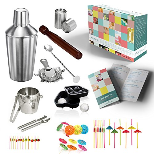 Barmix-56-piezas-de-acero-inoxidable-para-coctelera-Coctelera-de-750-ml-Colador-Cuchara-de-mezcla-Tazas-de-medicin-de-25-ml-50-ml-Agitador-Mano-de-mortero-Cuchillo-Cubo-de-hielo-y-pinzas-24-Pajitas-ha