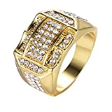 Diamanteinsatz Herrenring Businessring EIN Geburtstagsgeschenk Geschenk YunYoud titanring diamanten dreierring schlangenring Trend daumenringe fingerknöchel