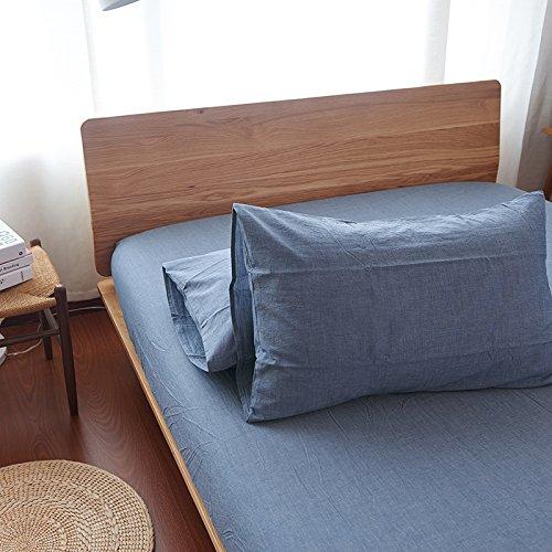 Household Products Haushalt Bettbezug, schützt und Umfasst Ihre Tröster/Bettwäsche Einsatz, 100% Baumwolle 3-Teiliges Bettbezug inkl. 2Kissenbezüge Standard Pillowcases Denim-Blau - Baumwolle Denim Tröster