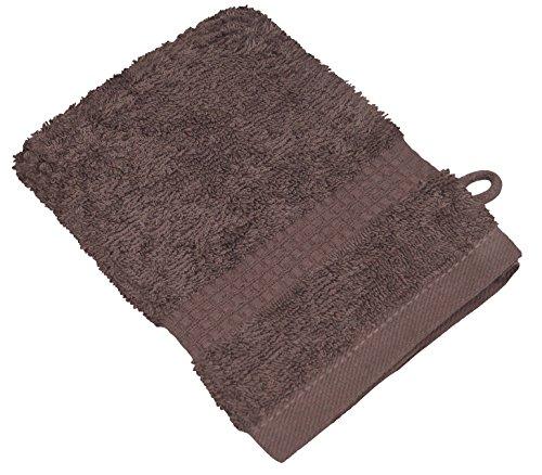 starlabels Serviettes Disponible en 15 couleurs et 5 dimensions doux saugstark 500 g/m², 100% coton, Coton, noyer, 15 cm x 21 cm